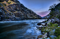 Sunset on the Snake River - Hell's Canyon