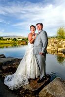 Bride and Groom at Esther Simplot Park, Boise, Idaho